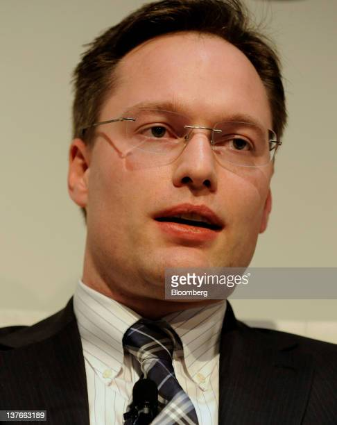 Bjorn Tuypens, co-managing principal and chief investment officer of Platinum Grove Asset Management LP, speaks at a conference on sovereign debt in...