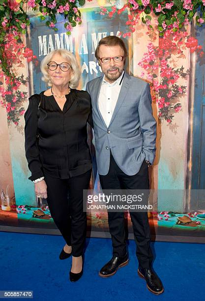 Bjorn Ulvaeus a member of Swedish disco group ABBA attends the opening of 'Mamma Mia The party' a new restaurant in Stockholm where people can eat...