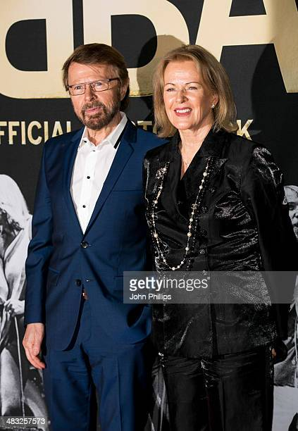 Bjorn Ulvaeus and AnniFrid Lyngstad attend the ABBA The International Anniversary party at Tate Modern on April 7 2014 in London England