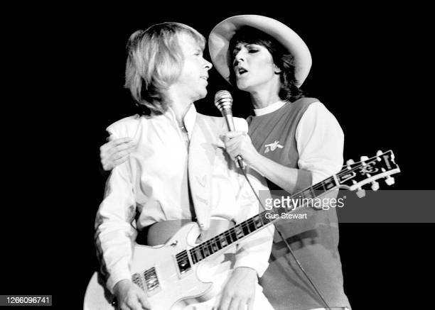 Bjorn Ulvaeus and Anni-Frid Lyngstad of ABBA, perform on stage at the Wembley Arena, London, England, on November 5th, 1979. Anni-Frid Lyngstad is...