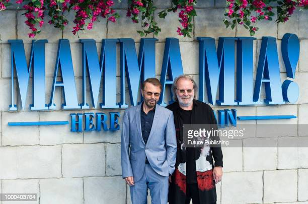Bjorn Ulvaeus and Benny Andersson arrive for the world film premiere of 'Mamma Mia! Here We Go Again' at Eventim Apollo, Hammersmith in London. July...