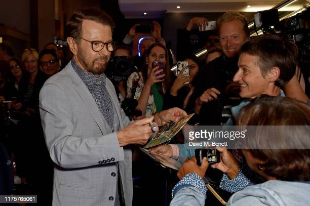 Bjorn Ulvaeus attends the opening night of MAMMA MIA The Party at Building 6 at The O2 on September 19 2019 in London England