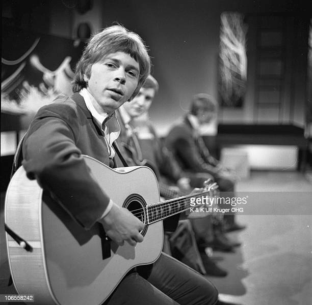 Bjorn Ulvaeus later of Abba with The Hootenanny Singers performing on a TV show in 1966 in Hamburg Germany