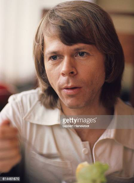 Bjorn Ulvaeus of Abba backstage at a Dutch TV show 'een van de acht' The Hague Netherlands November 23 1976