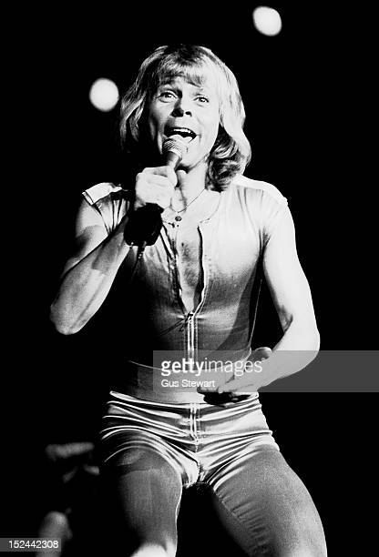 Bjorn Ulvaeus of Abba performs on stage at Wembley Arena, London, 9th November 1979.