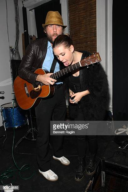 Bjorn Yttling and Lykke Li attends Photopass A Medium Format exhibition by Aaron Stern at Studio 385 on September 17 2009 in New York City