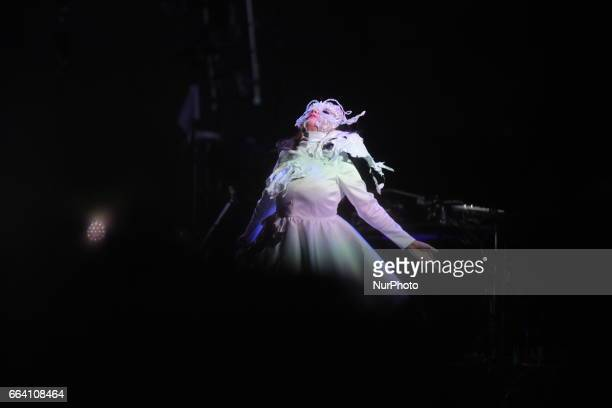 Björk performed at Ceremonia festival in Toluca April 2nd Mexico