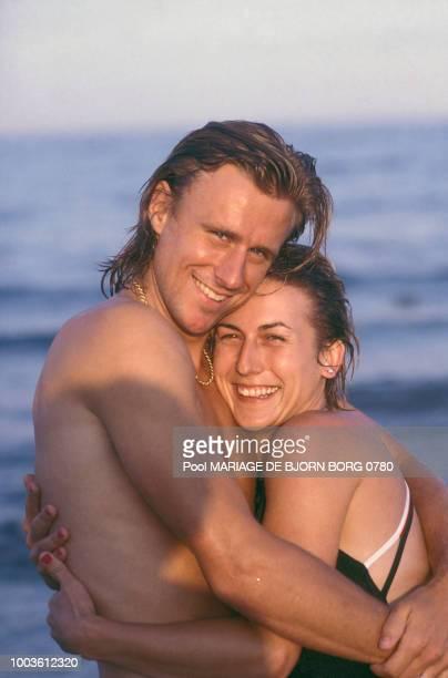 Björn Borg et Mariana Simionescu en Espagne circa 1980