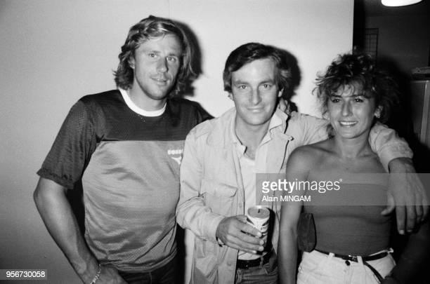 Björn Borg et sa femme Mariana dans leur villa de Port Washington à Long Island en aout 1982, Etats-Unis.