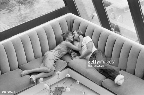 Björn Borg et sa femme Mariana dans leur villa de Port Washington à Long Island en aout 1982 EtatsUnis