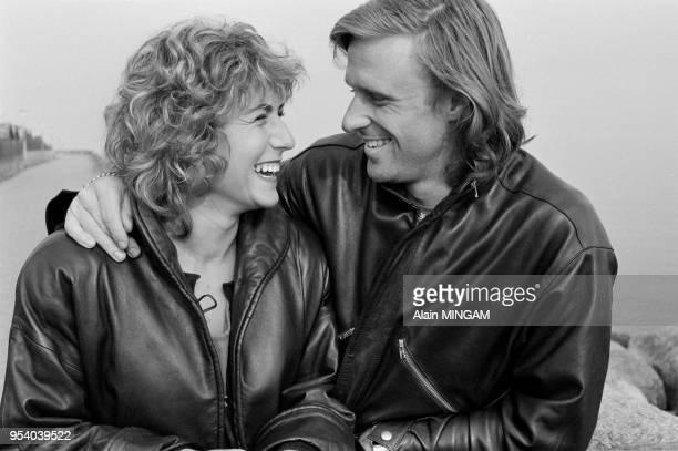 Björn Borg et sa femme Mariana Simionescu à Copenhague en mars 1982, Danemark.