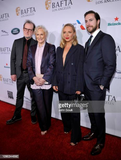 Björn Runge Glenn Close Annie Maude Starke and Marc Albu arrive to the BAFTA Tea Party at The Four Seasons Hotel Los Angeles at Beverly Hills on...