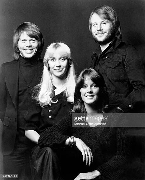 LR Björn Ulvaeus Agnetha Fältskog AnniFrid Lyngstad Benny Andersson of pop group Abba pose for a ABBA pose for a portrait circa 1980