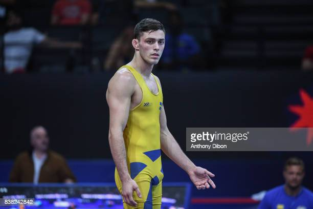 Bjurberg Kes A of Sweden during the Men's 80 Kg GrecoRoman competition during the Paris 2017 World Championships at AccorHotels Arena on August 22...