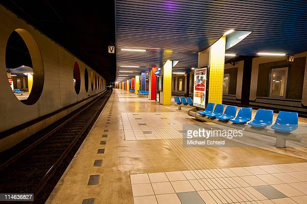 Blaak train station platform
