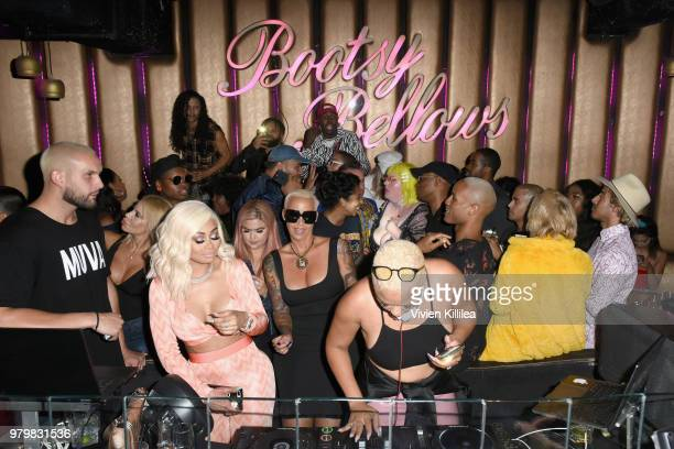Blac Chyna Amber Rose and DJ Duffey attend Amber Rose x Simply Be Launch Party at Bootsy Bellows on June 20 2018 in West Hollywood California