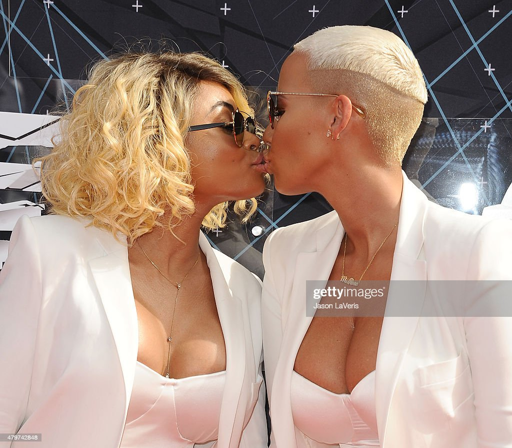 Blac Chyna and Amber Rose attend the 2015 BET Awards at the Microsoft Theater on June 28, 2015 in Los Angeles, California.