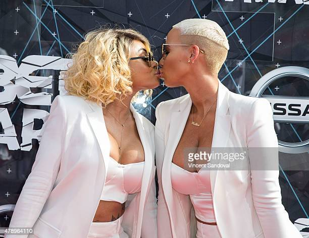 Blac Chyna and model Amber Rose attend the 2015 BET Awards on June 28 2015 in Los Angeles California