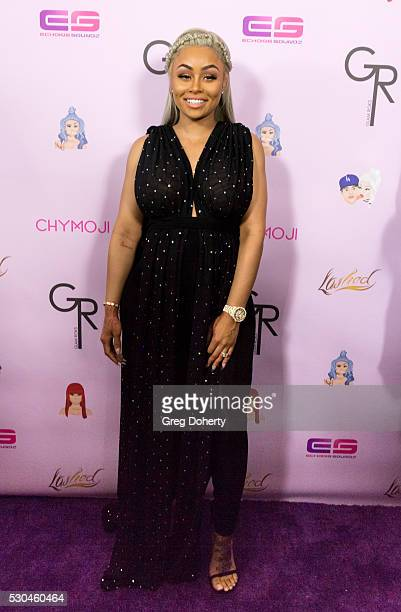 Blac Chyna arrives at her Blac Chyna Birthday Celebration And Unveiling Of Her 'Chymoji' Emoji Collection at the Hard Rock Cafe on May 10 2016 in...