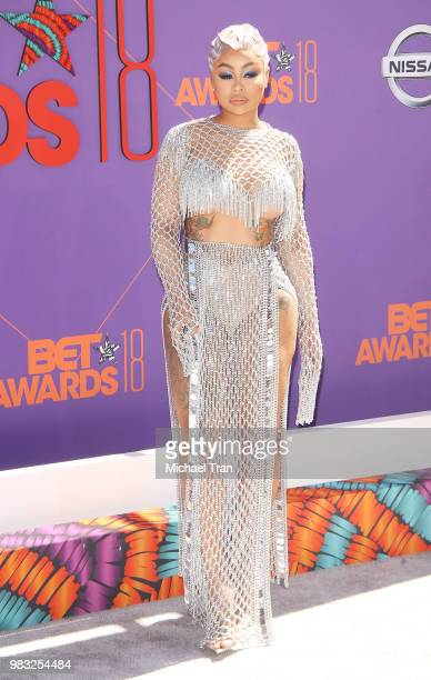 Blac Chyna arrives to the 2018 BET Awards held at Microsoft Theater on June 24 2018 in Los Angeles California