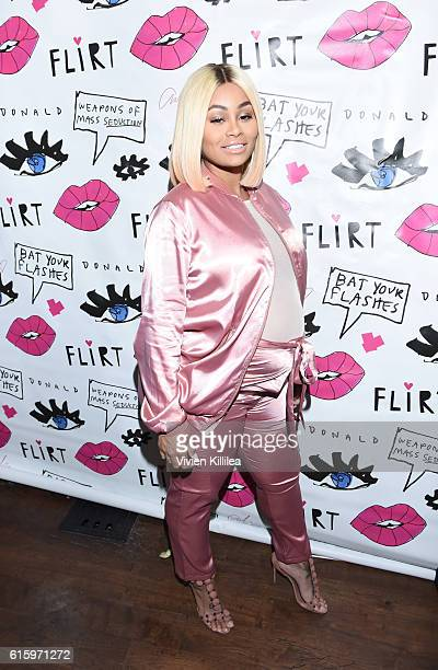 Blac Chyna attends Flirt Cosmetics x Amber Rose Event on October 20 2016 in Los Angeles California