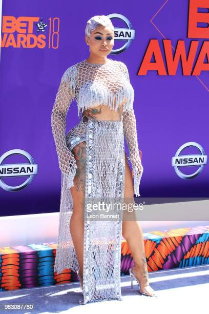 Blac Chyna attends the 2018 BET Awards at Microsoft Theater on June 24 2018 in Los Angeles California