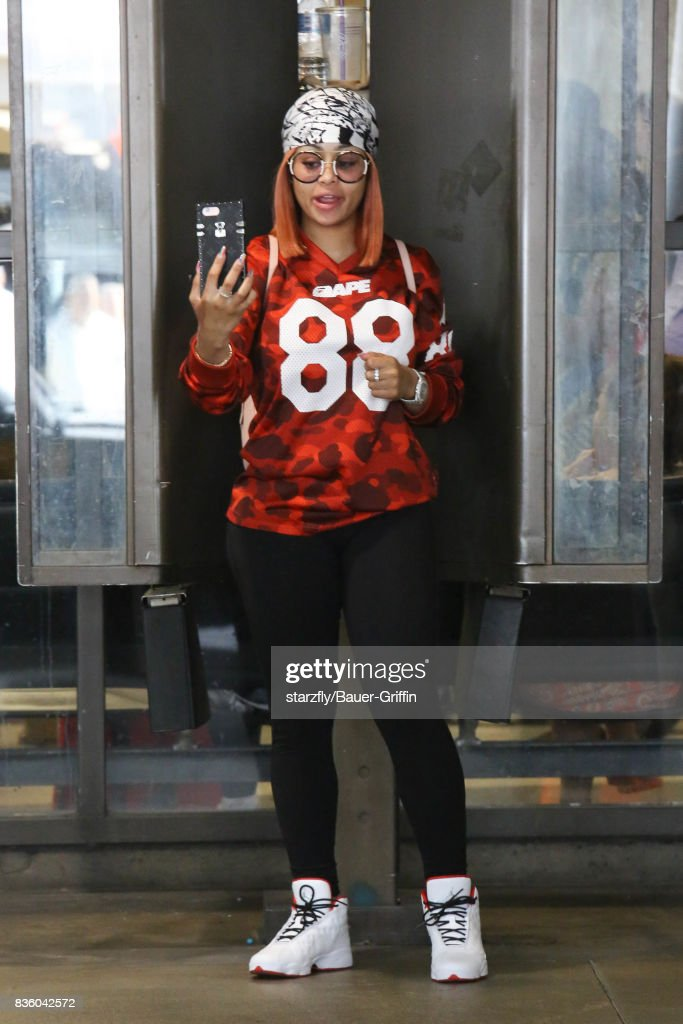 Blac Chyna is seen at LAX on August 20, 2017 in Los Angeles, California.