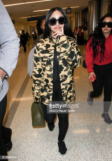 Blac Chyna is seen at LAX on February 03 2018 in Los Angeles California