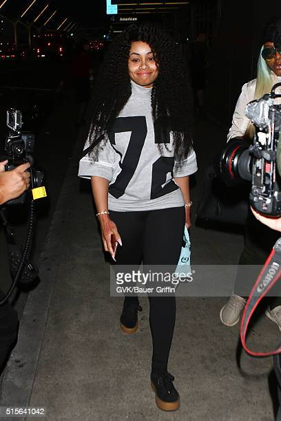 Blac Chyna is seen at LAX on March 14 2016 in Los Angeles California