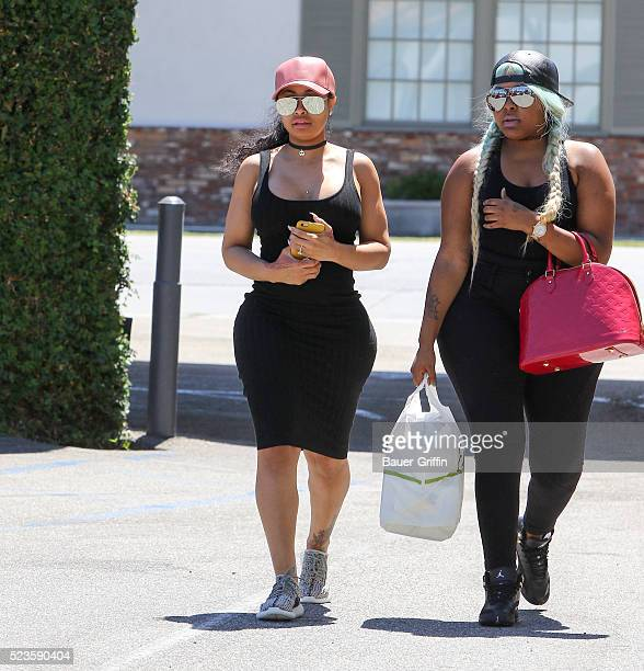 Blac Chyna is seen on April 23 2016 in Los Angeles California