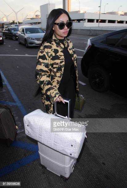 Blac Chyna is seen on February 3 2018 in Los Angeles CA