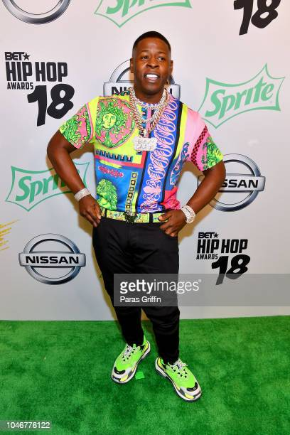 Blac Yongsta arrives at the BET Hip Hop Awards 2018 at Fillmore Miami Beach on October 6 2018 in Miami Beach Florida