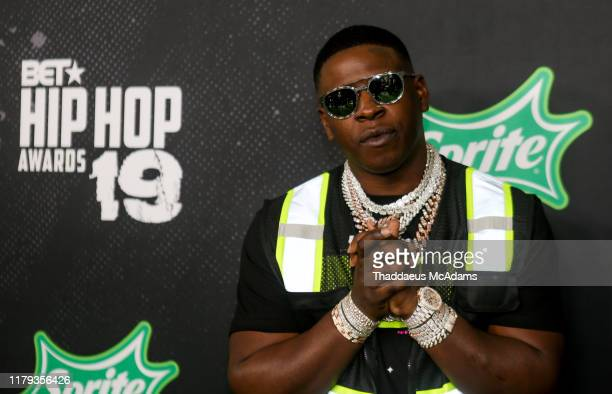 Blac Youngsta arrives to the 2019 BET Hip Hop Awards on October 05 2019 in Atlanta Georgia