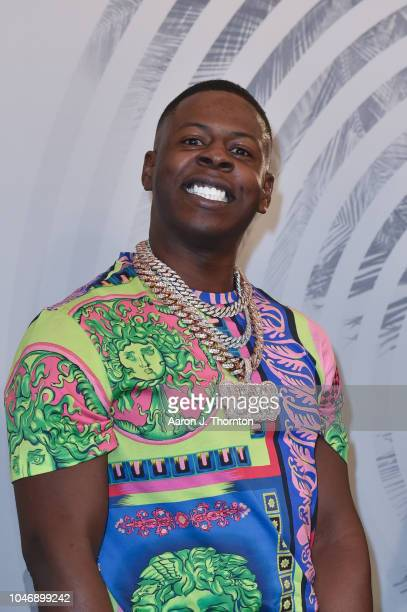 Blac Youngsta arrives to the BET Hip Hop Awards at the Fillmore Miami Beach on October 6 2018 in Miami Beach Florida