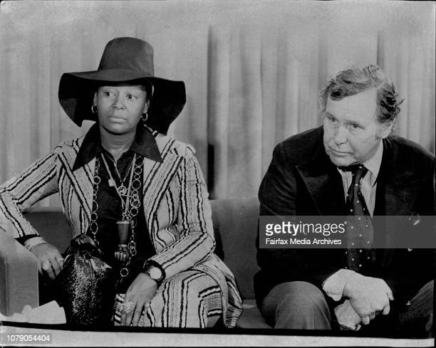 Black actress Gail Fisher she plays the secretary in the TV show on ATN MannixAlso Miss Fisher with the Producer of Mannix Mr Ivan Goff February 9...