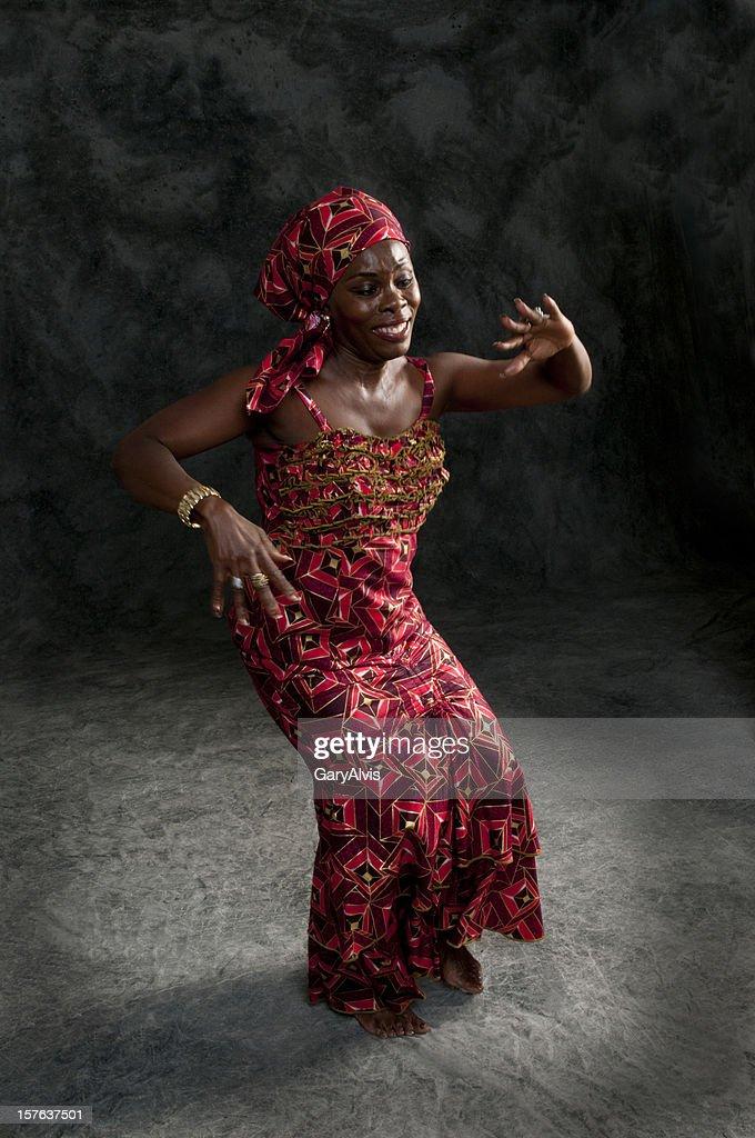 Black African female dancer : Stock Photo