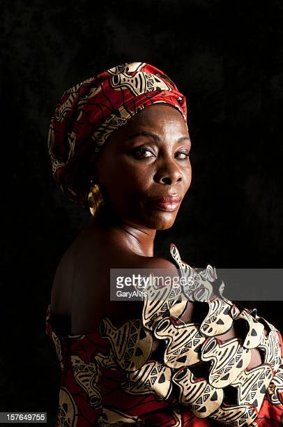 Black African woman with strong facial expression-looking at camera