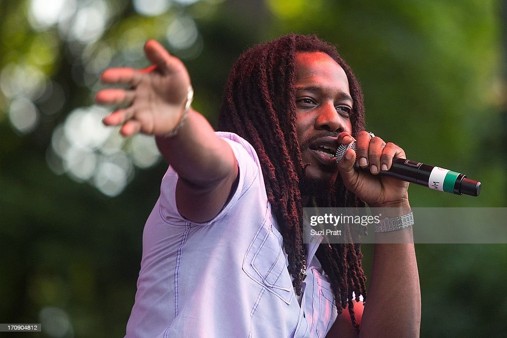 Black Am I of Ghetto Youths Crew performs live at Marymoor Park on June 19, 2013 in Redmond, Washington.