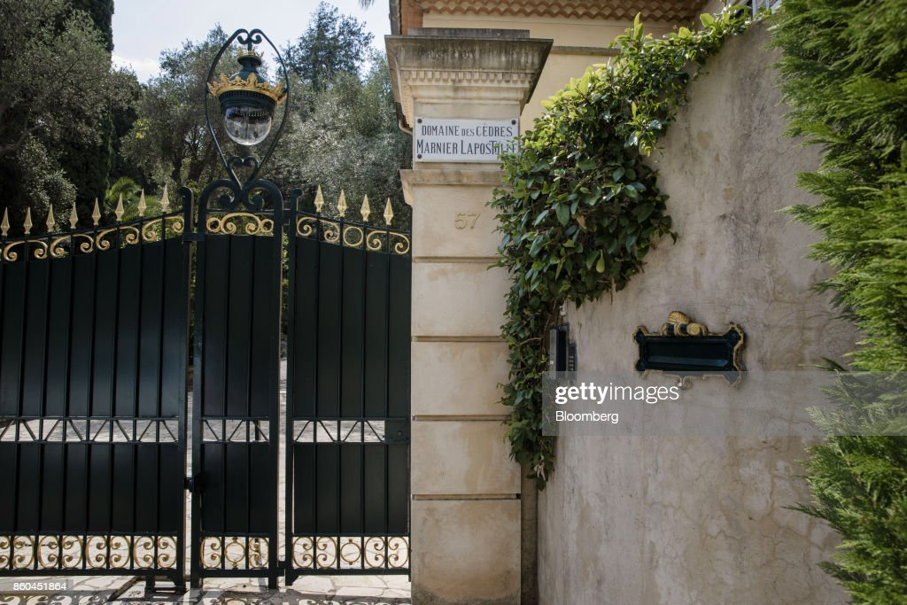 Black and gold painted iron gates stand at the entrance to the Villa Les Cedres, a 187-year-old, 18,000-square-foot, 14-bedroom mansion set on 35 acres, in Saint-Jean-Cap-Ferrat, France, on Tuesday, Sept. 26, 2017. With a list price of 350 million ($410 million), the owner, the Italian distiller Davide Campari-Milano SpA, is betting that the houses combination of history, luxury, and a prime location along the coast of Saint-Jean-Cap-Ferrat will be enough to make it the most expensive residential sale in history. Photographer: Marlene Awaad/Bloomberg via Getty Images