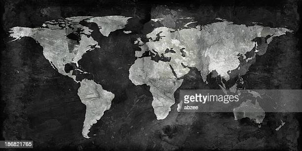 Black and gray world map background