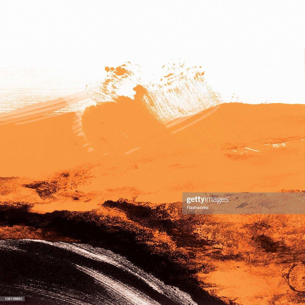 Black and Orange Grunge Wallpaper : Stock Photo