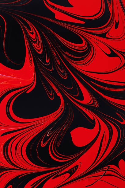 Black and Red Paint Swirls