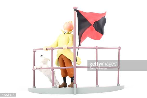 black and red - tintin stock photos and pictures