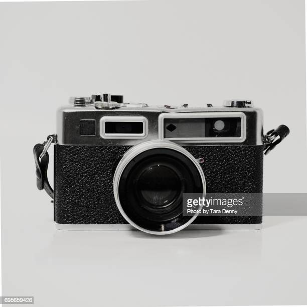 Black and White and silver antique camera