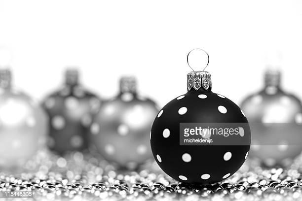 noir et blanc décorations - noel noir et blanc photos et images de collection