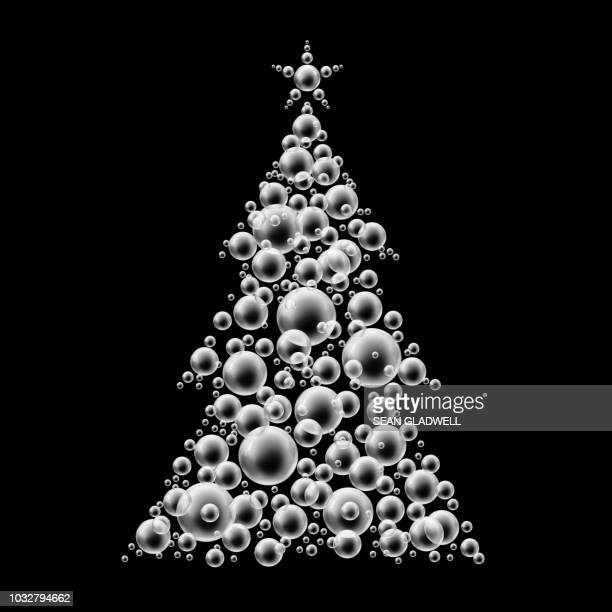 Black and white bubble christmas tree
