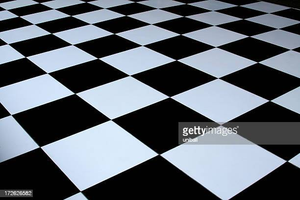 black and white checkered dance floor - checked pattern stock pictures, royalty-free photos & images
