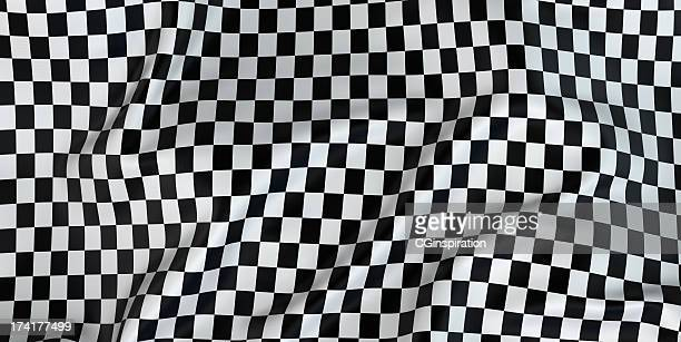 Black and white checkered fabric