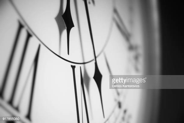 black and white clock - clock face stock pictures, royalty-free photos & images