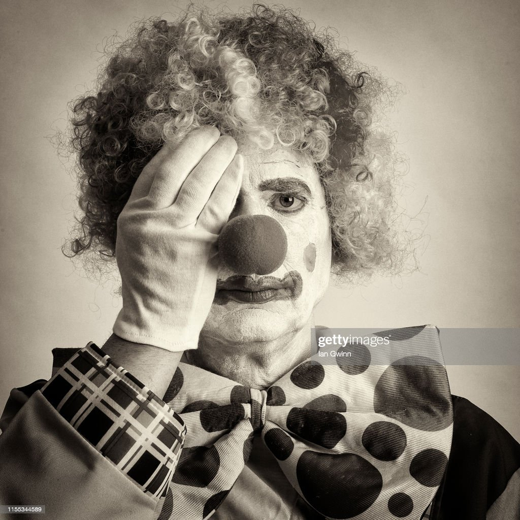 Black and White Clown_3 : Stock Photo